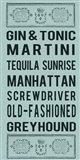Cocktails Art Print