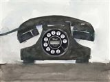 Phoning II Art Print
