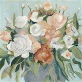Soft Pastel Bouquet I Art Print