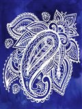 Indigo Paisley II Art Print