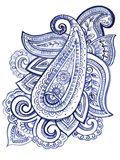 Indigo Paisley III Art Print