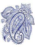 Indigo Paisley IV Art Print