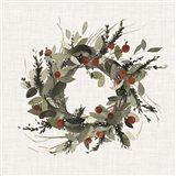 Farmhouse Wreath I Art Print