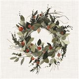 Farmhouse Wreath II Art Print