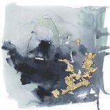 Cerulean & Gold I Art Print