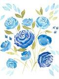 Cerulean Blooms I Art Print