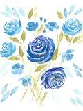 Cerulean Blooms II Art Print
