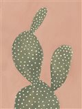 Coral Cacti I Art Print