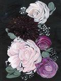 Dark & Dreamy Floral I Art Print