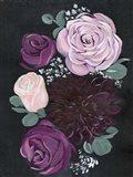 Dark & Dreamy Floral II Art Print
