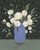 Mason Jar Bouquet I Art Print