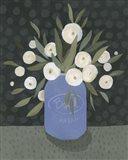 Mason Jar Bouquet II Art Print