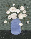 Mason Jar Bouquet IV Art Print