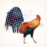 Rooster Fireworks II Art Print