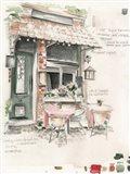 Cafe Study II Art Print