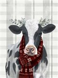 Yuletide Cow I Art Print