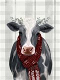 Yuletide Cow II Art Print