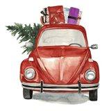 Christmas Cars I Art Print