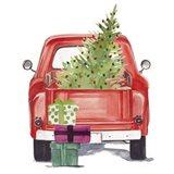 Christmas Cars III Art Print