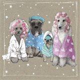 Fancypants Wacky Dogs I Art Print