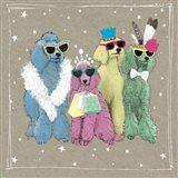 Fancypants Wacky Dogs II Art Print