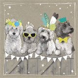 Fancypants Wacky Dogs III Art Print