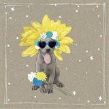 Fancypants Wacky Dogs VI Art Print