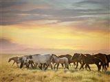Sunkissed Horses I Art Print