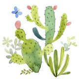 Happy Cactus II Art Print