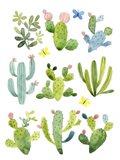 Happy Cacti Art Print