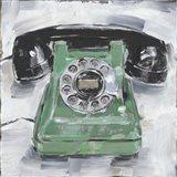 Retro Phone III Art Print