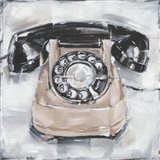 Retro Phone IV Art Print