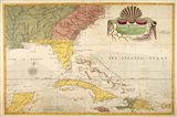 Map of Carolina, Florida & the Bahama Islands Art Print
