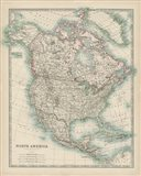 Map of North America Art Print