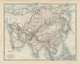 Map of Asia Art Print