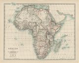 Map of Africa Art Print