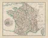 Map of France Art Print
