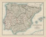Map of Spain & Portugal Art Print