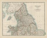 Map of England & Wales Art Print