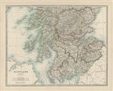 Map of Scotland Art Print