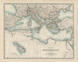Map of the Mediterranean Art Print