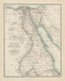 Map of Egypt Art Print