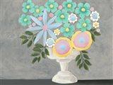 Nouveau Flowers I Art Print