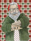 Hipster Santa II Art Print