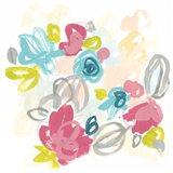 Floral Scatter I Art Print
