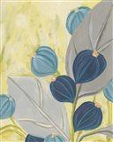 Navy & Citron Floral I Art Print