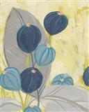 Navy & Citron Floral II Art Print