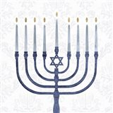 Sophisticated Hanukkah II Art Print