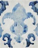 Sapphire Ikat II Art Print