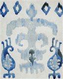 Sapphire Ikat III Art Print